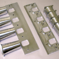 CNC machined billet intake manifold components