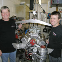 David & Brad after a successful dyno test session