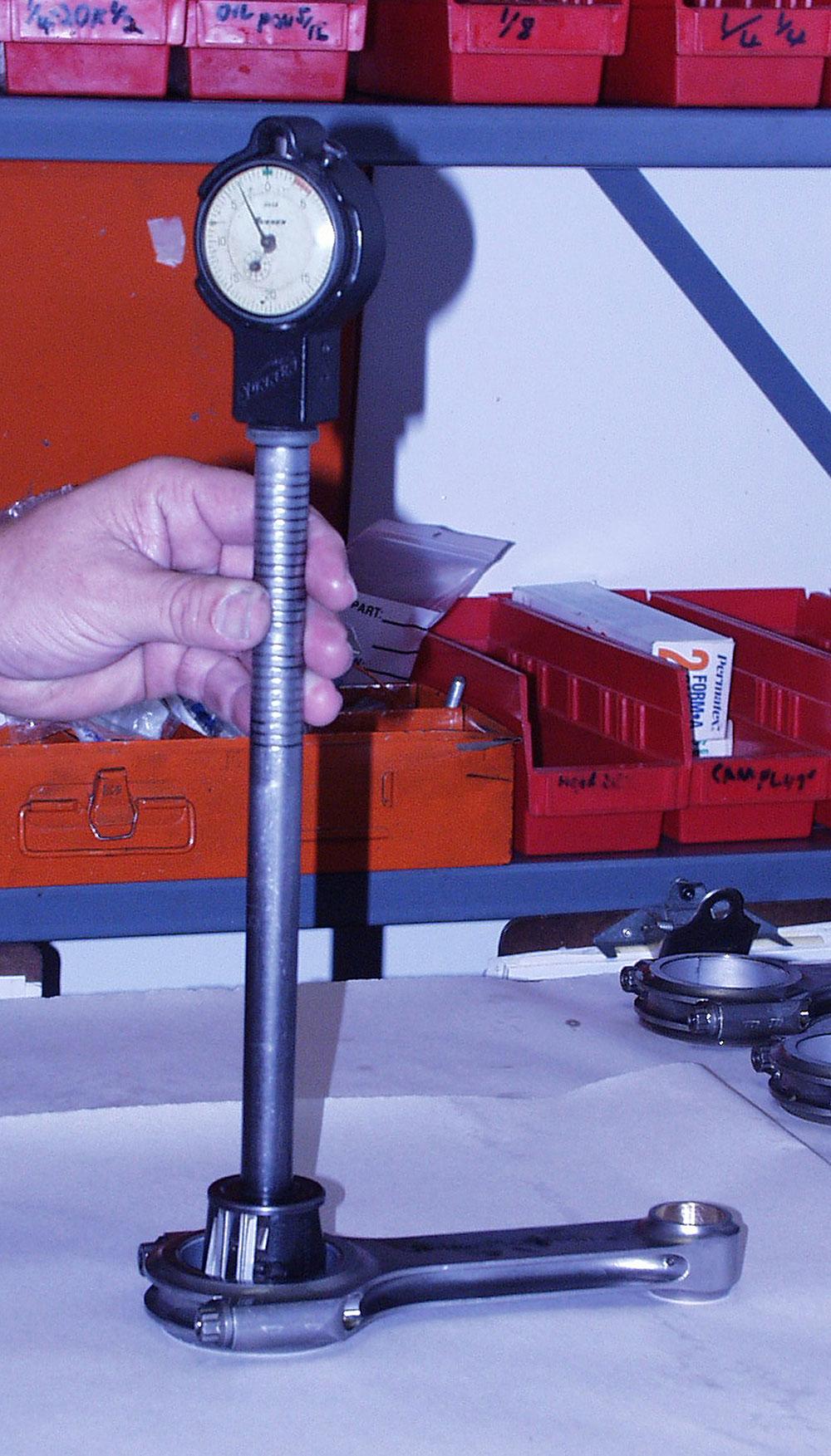 Dial bore gauging rod bearing clearances
