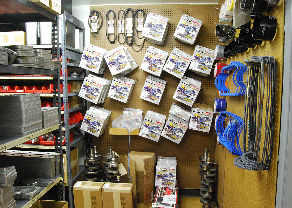 Extensive parts inventory