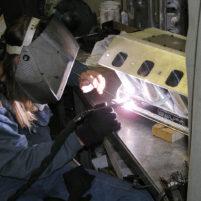 Welding billet intake manifold components