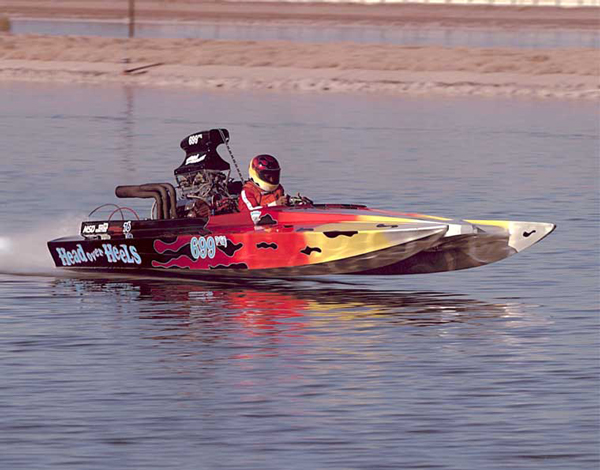 We started drag boat racing in