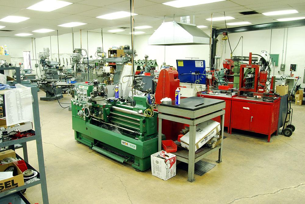 Precision machine shop equipment reher morrison racing for Parlour equipment